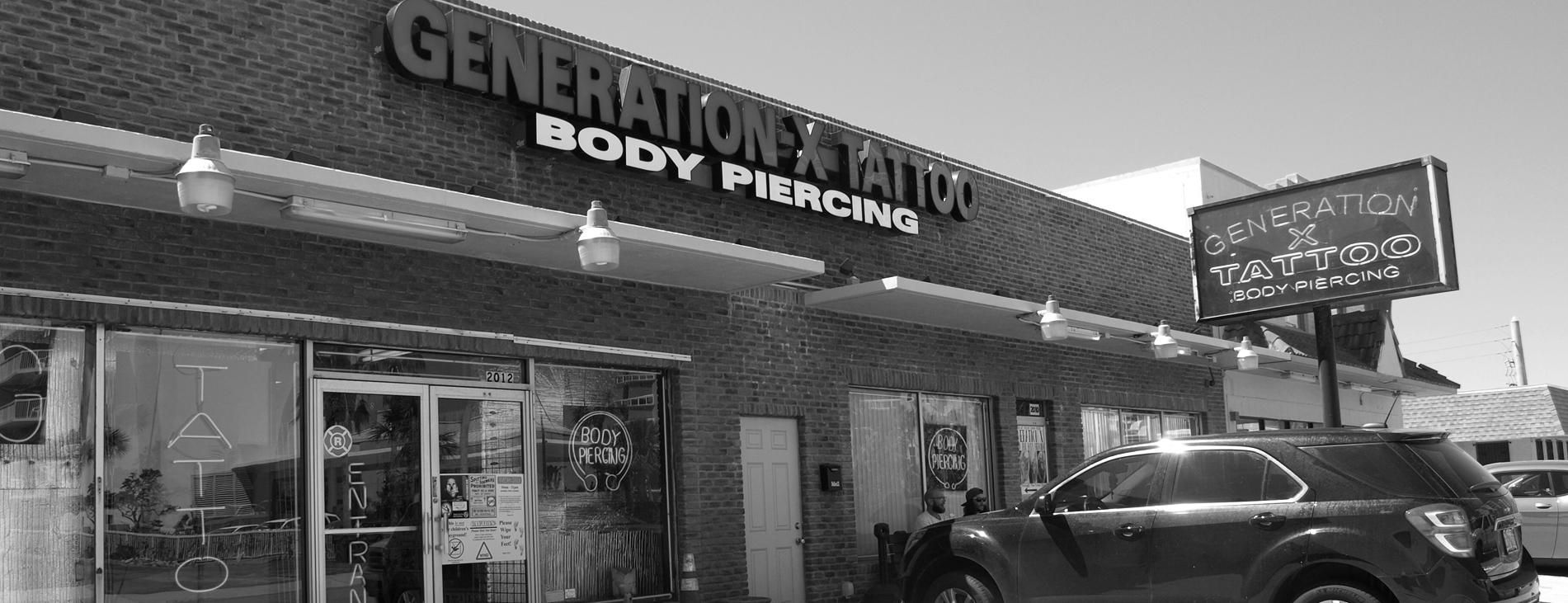 Welcome to Generation X Tattoo: The Original Daytona Beach Tattoo Shop